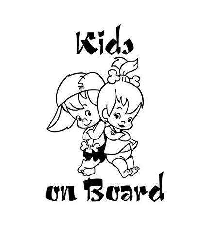 XINSU Kinder AN Bord Autoaufkleber Kinder AN Bord warnende Aufkleber des Babys lustige Autoaufkleber (Aufkleber Car-magnete Und)