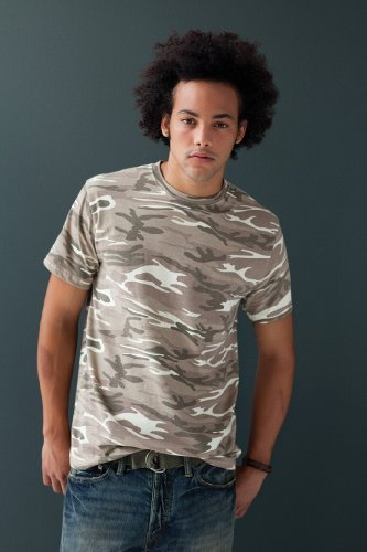 Anvil Camouflage (Anvil Herren Camouflage T-Shirt 939 Green Camouflage L)