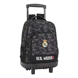 41q2nWvVwNL. SS300  - Real Madrid cf Mochila Grande con Ruedas Carro Fijo, Trolley, 45 cm, Negro