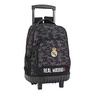 41q2nWvVwNL. SS324  - Real Madrid cf Mochila Grande con Ruedas Carro Fijo, Trolley, 45 cm, Negro