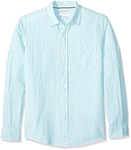 Amazon Essentials - Camisa regular lino