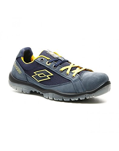 Lotto Works Q1997 Jump 500 S1P SRC - Scarpa Antinfortunistica, Blu/Giallo (Aviator/Yellow), 44 EU