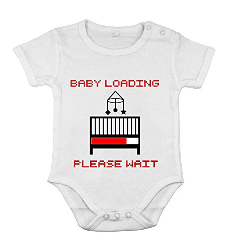 Baby Newborn Cotton Clothing Short Sleeve Loading Please Wait Print 24 Months