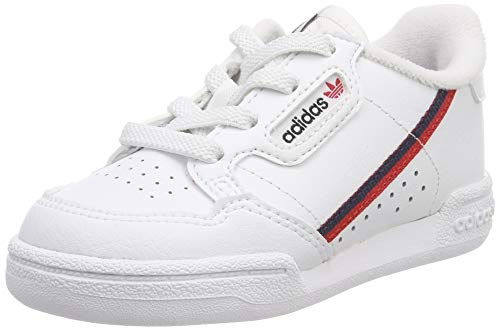 adidas Unisex Kids' Continental 80 I Fitness Shoes, White (FTW BlaEscarlMaruni 000), 7.5 UK