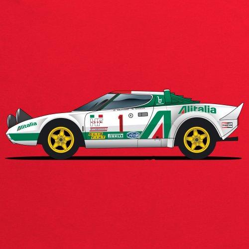 General Tee Stratos Sports Car T-Shirt, Herren Rot