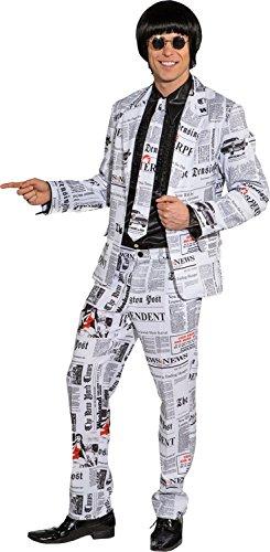 Reporter Kostüm - Orlob Herren Kostüm Anzug Zeitung Reporter Karneval Fasching Gr.48