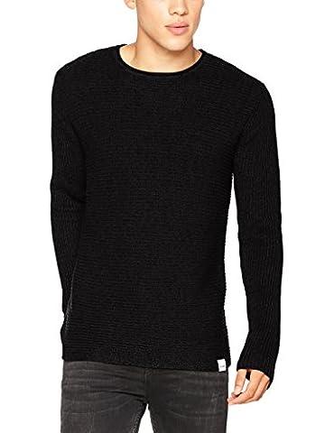 ONLY & SONS Herren Pullover Onssato Multi Clr Knit Noos Grau (Dark Grey Melange), Medium