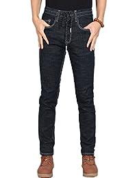 cb6bdd3409 YuanDian Hombre Primavera Verano Casual Vaqueros Jeans Cintura Elástica  Pierna Recta Slim Fit Stretch Suave Rectos