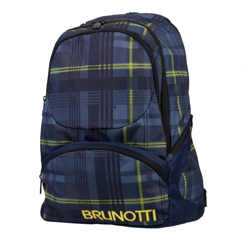Brunotti Backpack Multi Pocket Lined Check Ombre BB3227-502 Damen Rucksackhandtaschen 32x47x21 cm (B x H x T), Mehrfarbig (Lined Check Ombre 502)