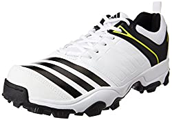 adidas Mens 22 Yds Trainer16 White, Black and Shoyel Cricket Shoes - 8 UK/India (42 EU)