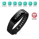 Braccialetto Fitness, Activity Tracker SHKAX Fitness Tracker Braccialetto Monitoraggio Battito...