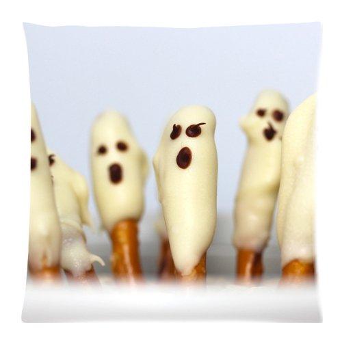 r Ghost und Fledermaus Print 45,7x 45,7cm Überwurf Kissenbezug, baumwolle, color-5, 18x18Inch (College-halloween-kostüme Diy)