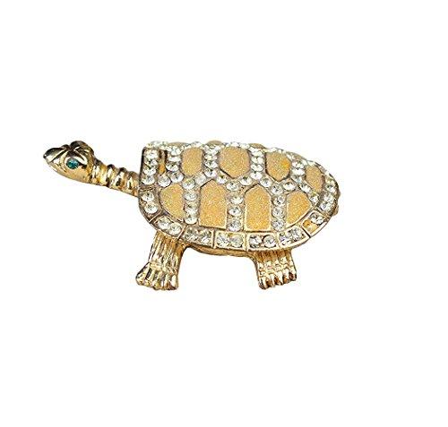 znewlook Wild Sea Turtle Box Tschechische Kristalle unechte Flache Schildkröte Figur -