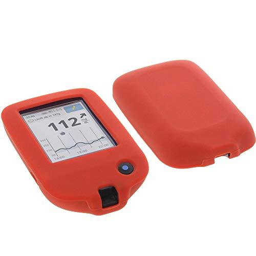 foto-kontor Tasche für Abbott Freestyle Libre 2 Silikon Schutzhülle rot