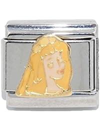 Sleeping Beauty Disney - 9mm Italian charm - fits Zoppini, Boxing, and Nomination style Italian charm bracelets
