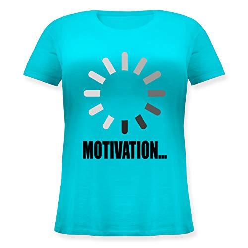 Nerds & Geeks - Lade Motivation. schwarz - L (48) - Hellblau - JHK601 - Lockeres Damen-Shirt in großen Größen mit Rundhalsausschnitt