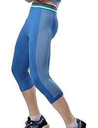 Hombres Secado Rápido Compresión Polainas Apretadas Deportes Pantalones 3/4 Leggings