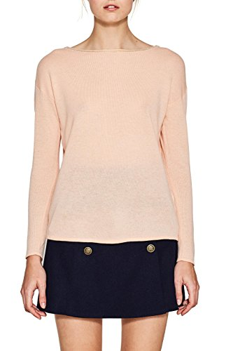 ESPRIT Collection 097eo1i007, Suéter para Mujer, Rosa (Nude 685), Medium