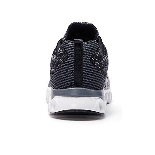 Herren Sportschuhe Mode Atmungsaktiv Ausbildung Laufschuhe Freizeitschuhe Ausbilder black ash 810