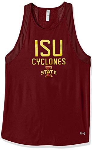 Under Armour NCAA Iowa State Cyclones Women's Mesh Tech Tank, Large, Cardinal -
