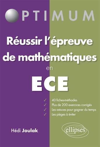 Russir l'preuve de Mathmatiques en ECE