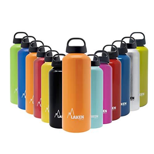 Laken Unisex - Adulto Alluminio Arancione 0,75 Litri, BPA Borraccia in Alluminio Classic 0,75 Litri, PBA Free