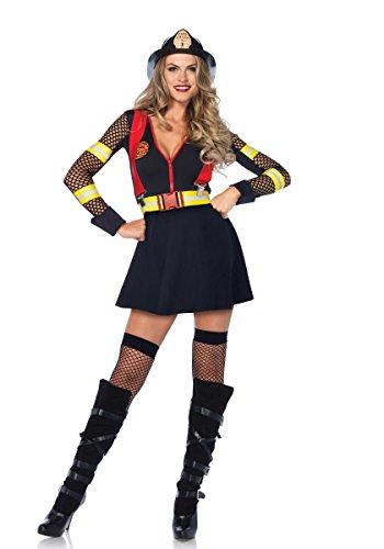 Leg Avenue Damen Kostüm Red Hot Fire Captain Feuerwehr (Red Hots Kostüm)