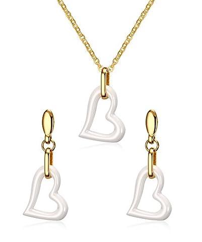 Vnox l'acier inoxydable collier de luxe céramique