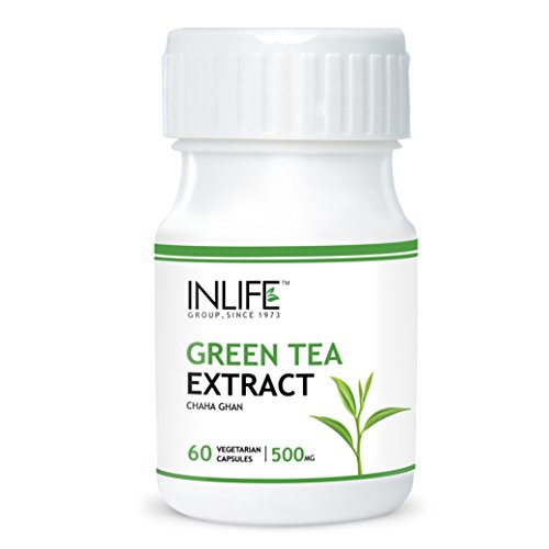 Green tea extract is that supplement that enables you to feel better, lose weight and reduce your risk of chronic diseases.  Some of the health benefits that you can derive from it are:-  . Increases metabolism, thus helping you to shed fat faster. . Contains potent antioxidants like flavonoids and catechins which prevent the formation of free radicals thus protecting the cells from damage. . Kills bacteria, thus ensuring good dental health and reducing overall chances of infection. . Reduces the chances of several cancers. . Lowers risk of Type ll diabetes. . Improves cholesterol levels.  This product from Inlife contains 500mg of green tea extract in each capsule. One bottle contains 60 vegetarian capsules.