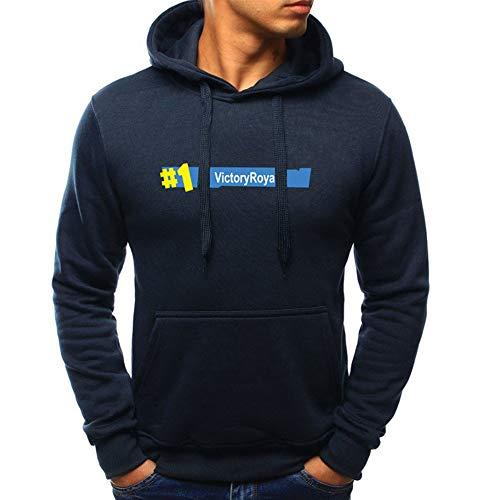 MIRRAY Herren Langarm Herbst Winter Casual Kordelzug Sweatshirt Hoodies Top Bluse