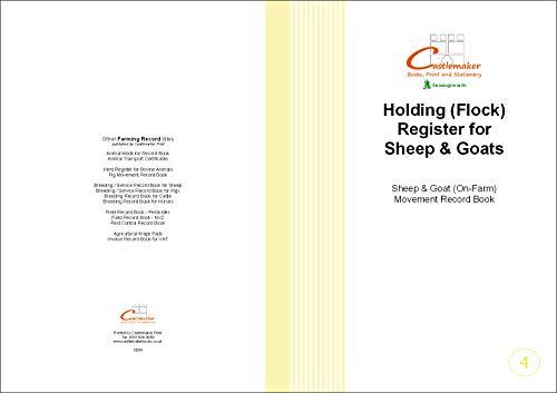 Register für Aufzeichnungen zur Haltung von Schafen und Ziegen, englische Ausführung, A4, S004