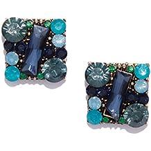 Bellofox latest Indulgence Maroon & Blue color Metal Earring for Women/Girls