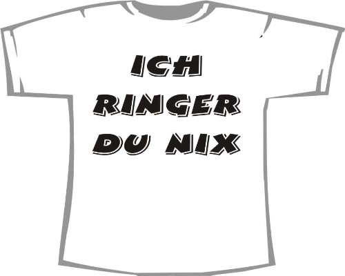Ich Ringer, du nix; Kinder T-Shirt weiß, Gr. 1-2 (Kinder T-shirt 2 Ringer)