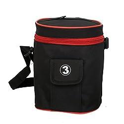 Kuber Industries Lunch Cover, Carry Bag (Black) - KI19468