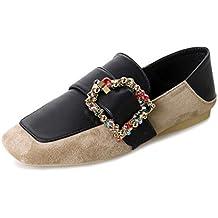 ¡Oferta de liquidación! Zapatos de mujer de los pisos de Covermason Zapatos cómodos de cristal cómodos Zapatos deportivos de deslizamiento suave(40 EU, Caqui)