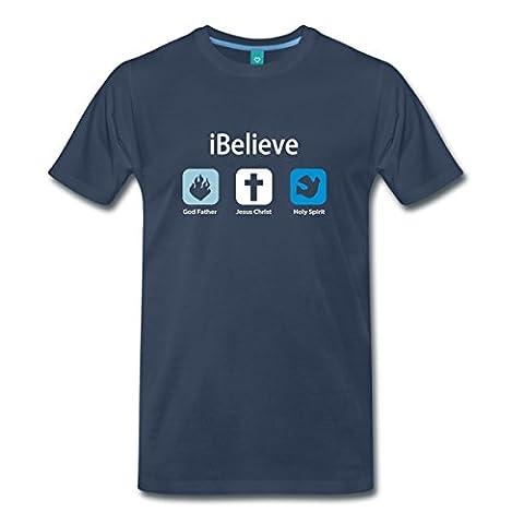iBelieve Männer Premium T-Shirt von Spreadshirt®, 3XL, Navy