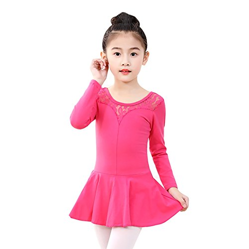 2 Just Kinder Dance (Wingbind Gymnastic Tutu Kleid Leibchen Tank Trikot Rock Ballett Tanzkleid Ethnic Dance Wear Bodysuit für Mädchen Kinder Kinder)