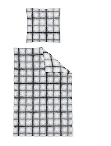 Irisette Jersey Bettwäsche 2 teilig Bettbezug 155 x 220 cm Kopfkissenbezug 80 x 80 cm Luna 391397-11 Black