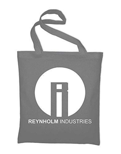 Reynholm Industries The IT Crowd Logo Jutebeutel, Beutel, Stoffbeutel, Baumwolltasche, gelb Light Grey
