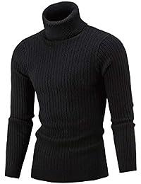 dfe0b1e3621c Jaminy Men s Sweater Plus Size High Neck Pullover Jumper Slim Fit Warm  Knitting Turtleneck Top Blouse