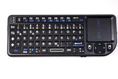 Rii RT-MWK01+ Mini Funk Tastatur (Deutsch, QWERTZ) mit Maus Touchpad