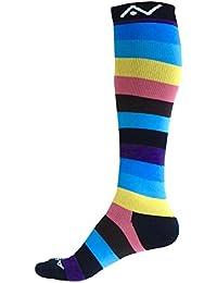 A-Swift, calcetines de compresión (1 par) para mujer y hombre – Ajuste atlético graduado para carreras, para enfermeras, para viajes en…