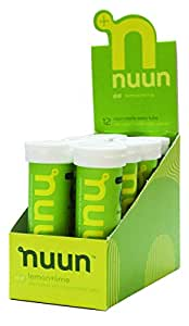 Nuun Active Hydration Lemon And Lime Tablets - 12 Count Tablets Per Tube, Pack of 8