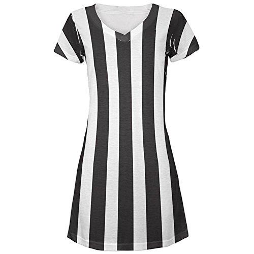 Halloween Schiedsrichter Kostüm All Over Juniors Beach Cover-up Kleid Multi LG