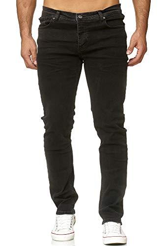 Reslad Jeans Herren Designer Slim Fit Basic Style Stretch Denim Jeanshose Männer Jeans Herren-Hose RS-2092 Schwarz W31 / L32