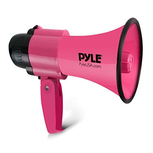 Megafon Lautsprecher von Pyle 30 Watt, Mit Sirene, Lautstärke einstellbar, verfügt über eine Reichweite von 750 Metern - Ideal für Fußball, Handball, Basketball und Rugby, für Fans und Trainer -