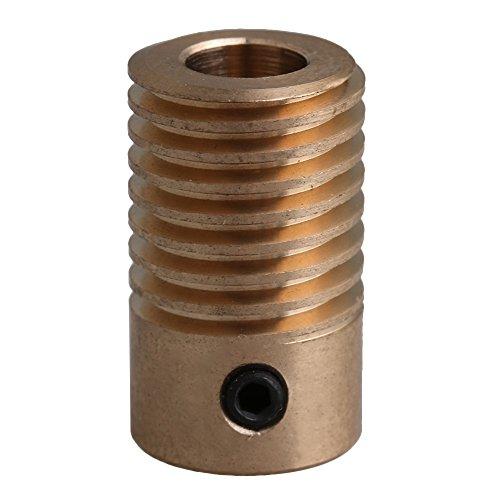 20x11,7 x6mm gelber Messing 0,5 Modulus 6mm LochDurchmesser Wurm Zahnrad Welle für Getriebe Bremse Antrieb industrielles Zubehör -
