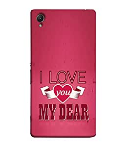 FUSON Designer Back Case Cover for Sony Xperia Z2 (5.2 Inches) (Pyar Hai Tumse Heart Pink Red True )