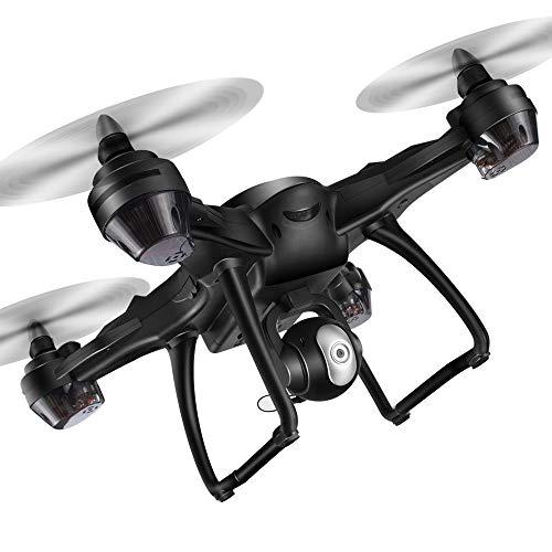 JERFER Drone Drone con Telecamera Mini Drone Lh-X38G Dual GPS FPV E 1080P HD Fotocamera WiFi Telecomando Drone Quadcopter + Zaino