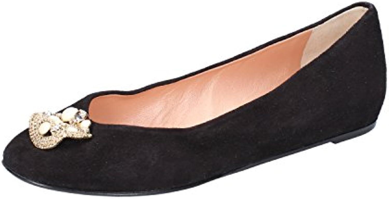 Zapatos Mujer Eddy Daniele 37 EU Bailarinas Negro Gamuza AX904